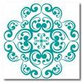 Retro ornament Turkos - Klistermärken för kakel