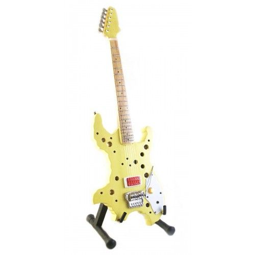 "swiss cheese guitar  | Miniature Guitar ""Ron Thal / Bumblefoot"" Vigier Swiss Cheese Carved ..."
