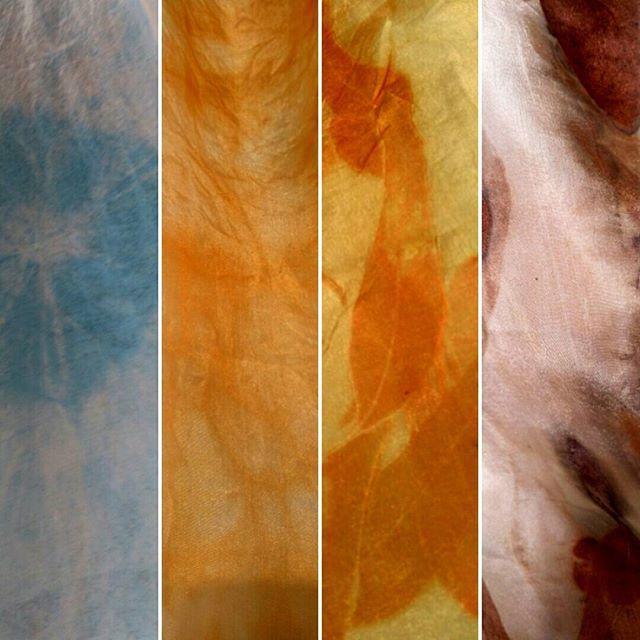 Eco printed scarf detail, created by NZ Artist Karen Williamson.