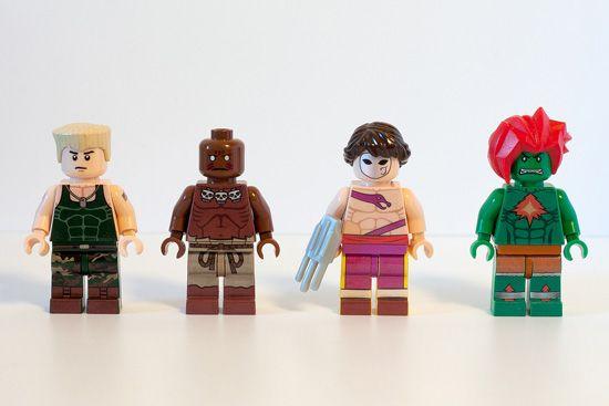 #1 Les personnages de Street Fighters en LEGOs