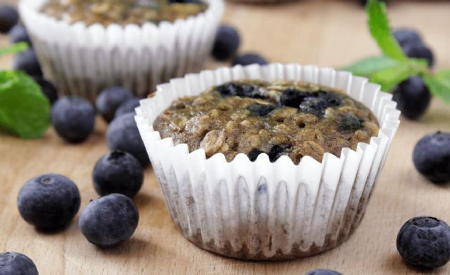 You'll love these easy, low-fat blueberry muffins.