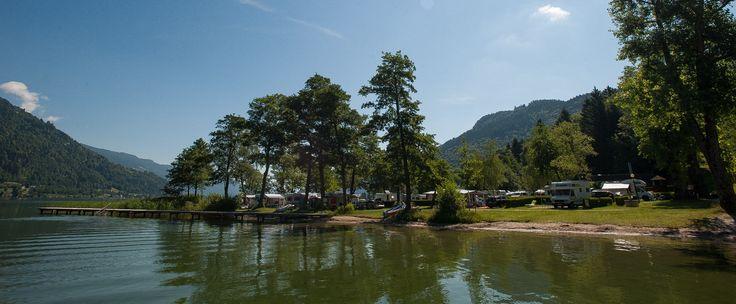 Camping in Österreich direkt am Ufer des Ossiacher Sees in Kärnten. Genießen Sie das Seen-Erlebnis und fragen Sie bei Seecamping Berghof an!