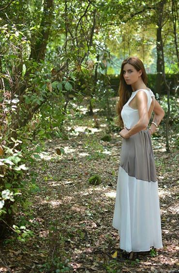 ♡ Our open back maxi dress, worn by the Italian blogger Barbara Grimaldi!!!  #shop_online: http://bit.ly/1oeeNQJ  http://lovehandmade.me/la-grece-jaime/ http://lagrecejaime.com/feel-like-a-princess/