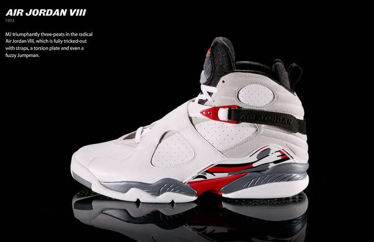 jordans shoes | The Air Jordan VIII's were the heaviest Air Jordans ever made. They ...