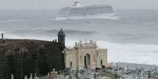 Crucero desafía olas de 10 metros en Puerto Rico -  Los pasajeros de un crucero que zarpó el lunes desde el puerto de San Juan en Puerto Rico posiblemente anhelaban unas vacaciones de ensueño por el Caribe, pero un video tomado por un ciudadano indica que el viaje no comenzó de manera calmada, como se esperaba. El video de 38 segundos muestra al ... - https://notiespartano.com/2018/03/07/131884/