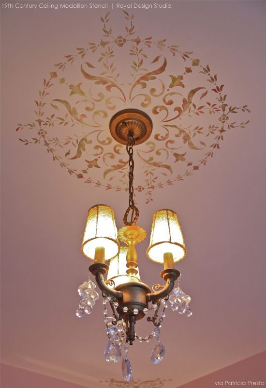 Ceiling Stencil Ideas for Beautiful Home Decor for the Holidays | Royal Design Studio