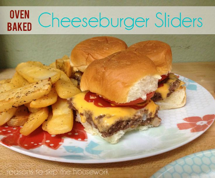 If it's too warm or too cold to barbecue outside, you can still enjoy oven baked cheeseburger sliders!