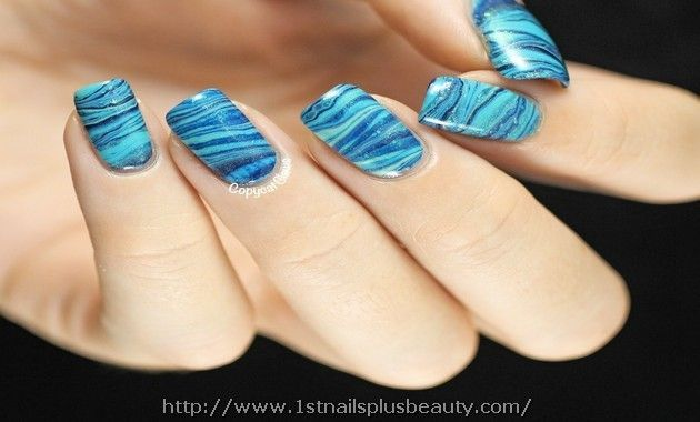 Nail Art Marble Effect Without Water Picture