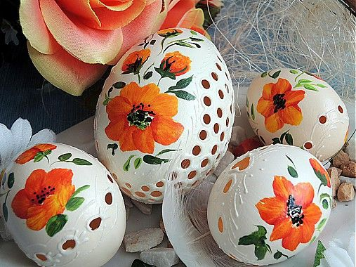Sada oranžových kraslíc by Cecil - SAShE.sk - Handmade Veľká Noc