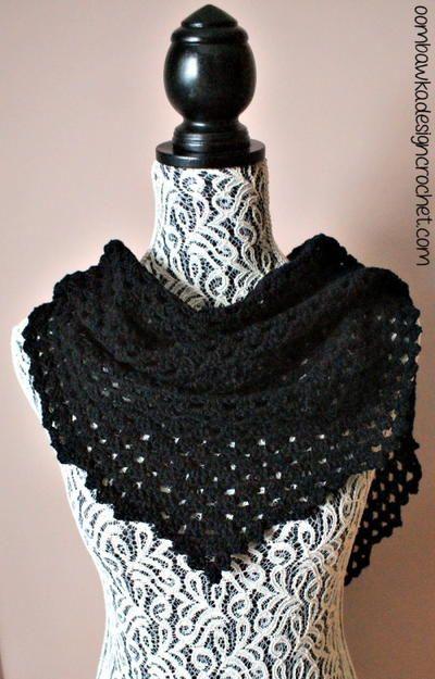 Comfort Crochet Shawl -- What a beautiful crochet shawl pattern!