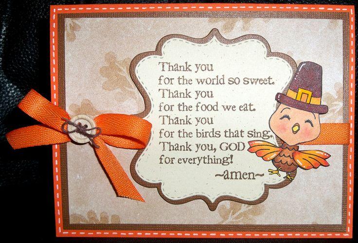 Thanksgiving prayer | Peachy Keen Stamps: Glorajean Beardall :: Thanksgiving Prayer Card