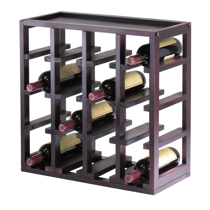 Winsome Wood 92144 Kingston Stackable Slot Cube Wine Rack This Winsome Wood  Wine Rack Is Offered In A Dark Espresso Finish. Home Design Ideas