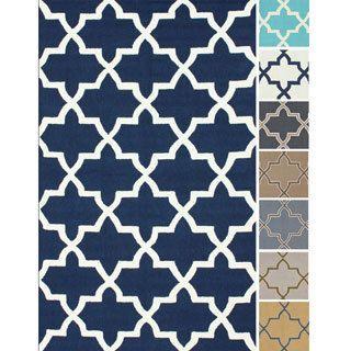 Nuloom Handmade Alexa Moroccan Trellis Wool Rug 6 X 9