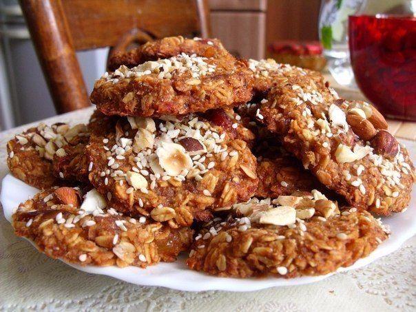 Овсяные печенья (постные) | Кулинарные Рецепты
