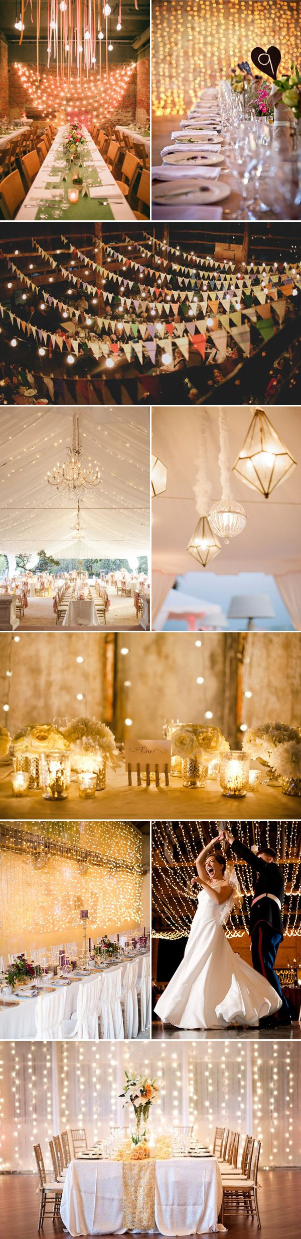 Indoor Lighting Decoration Ideas / http://www.deerpearlflowers.com/39-magical-string-hanging-light-decorations-wedding-backdrop/