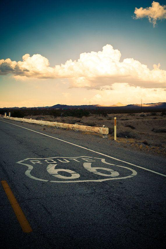 Route 66 Road Trip Landscape California por RetroRoadsidePhoto