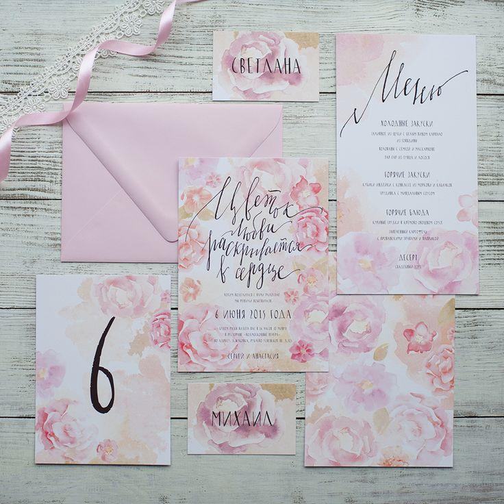 calligraphy wedding invitation/ свадебное приглашение с каллиграфией http://kvdshop.com/front/products/467