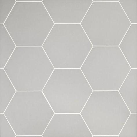 adessi | opal grey hexagon porcelain tile, 11 x 13, 10 mm