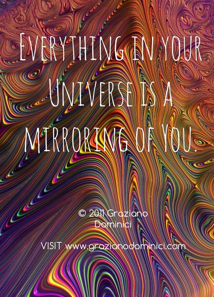 Everything in your universe is a mirroring of You.  © 2011 Graziano Dominici