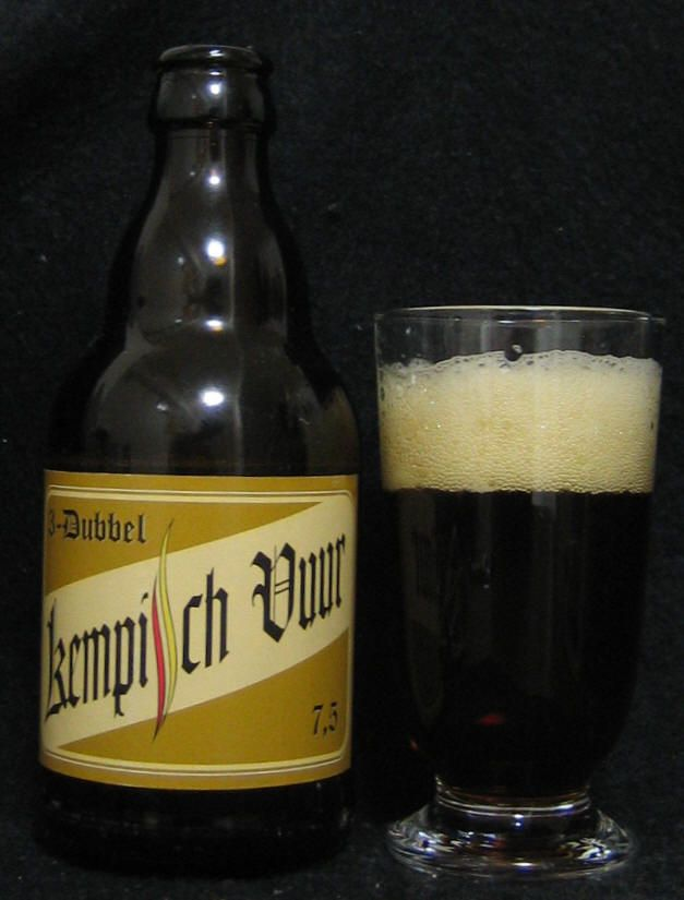 Pirlot(brewed De Proefbrouwerij) - Kempisch Vuur 3 Dubbel(Pirlot)(Abbey dubbel) 7,5% pullo 1/2 Teron kanssa 13.2.2008 One Pint Pub