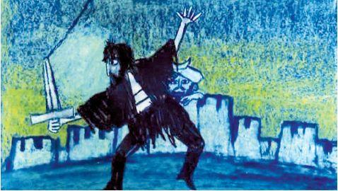 Giulio Gianini, Emanuele Luzzati, Sequenza di apertura / Opening title sequence, Brancaleone alle Crociate, Regia / Directed by Mario Monicelli, Musica / Music by Carlo Rustichelli, 1970