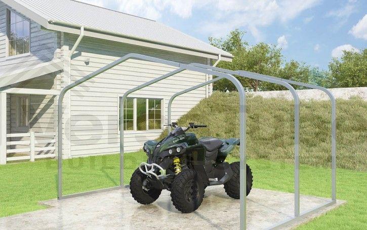 Atv Cover Frame Only 2x2 12 X 9 X 6 Carport Or Shelter Building Kits Atv Covers Atv Carport