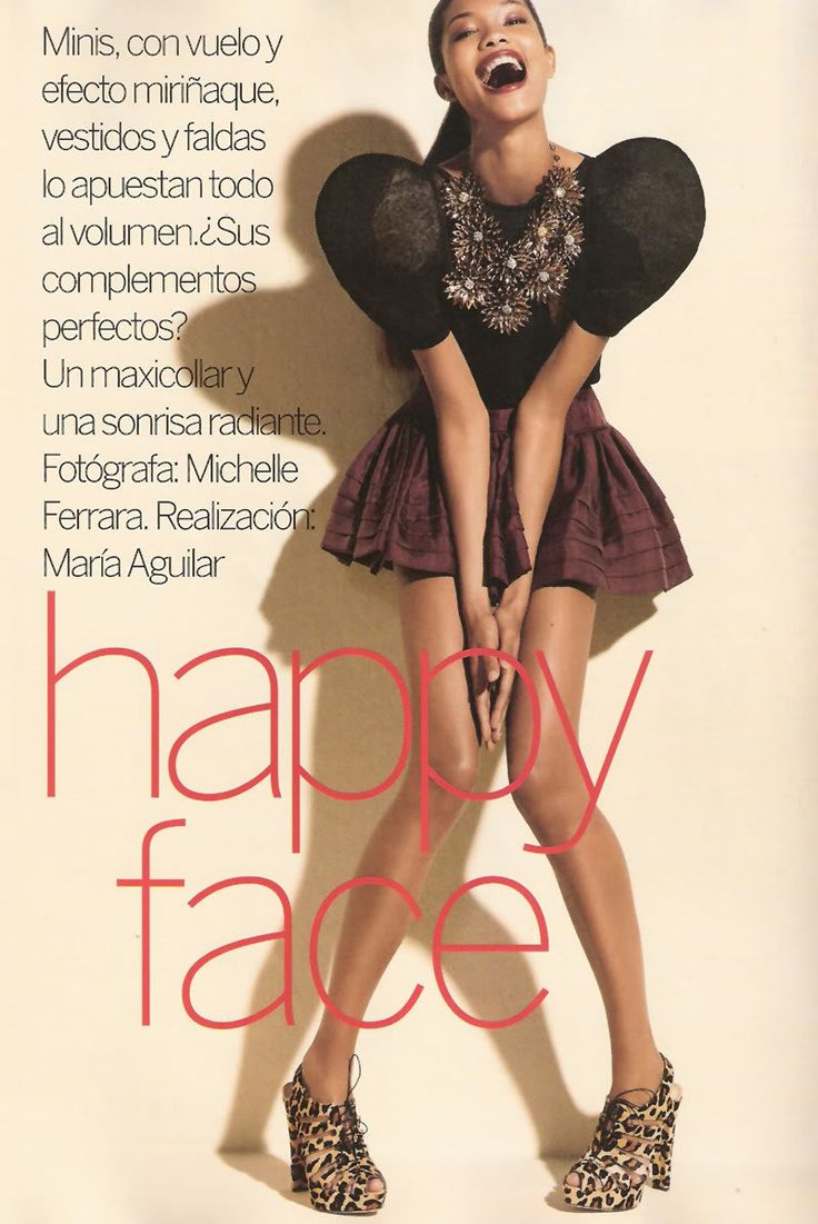 "CHANEL IMAN ""HAPPY FACE"" FEBUARY 2010 VOGUE SPAIN"
