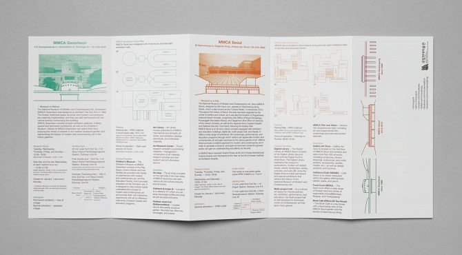 leaflet for National Museum of Modern and Contemporay Art, Korea - studio fnt
