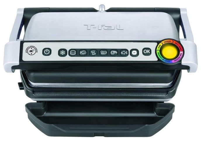 Indoor Grill Smokeless Removable Plates Electric Bbq  Stainless Steel 1800Watt #Tfal