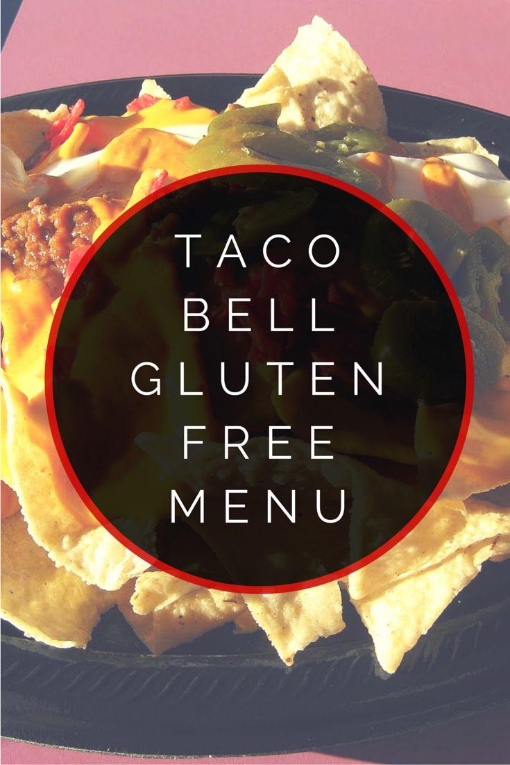 Taco Bell Gluten Free Menu #glutenfree