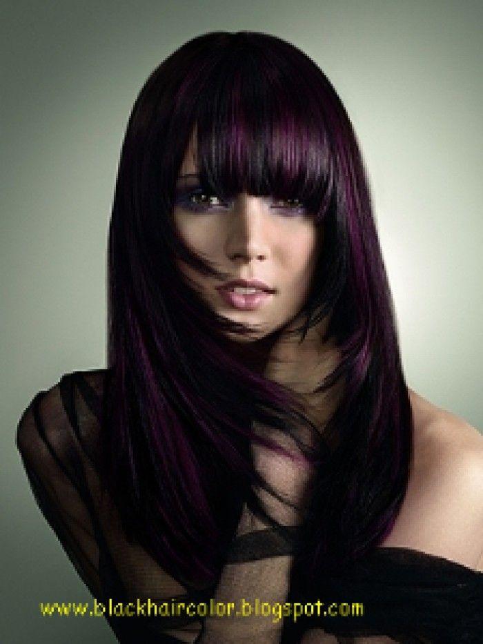 Dark Burgundy Hair, Dark Hair, Blondes Highlights, Hair Style, Hair ...