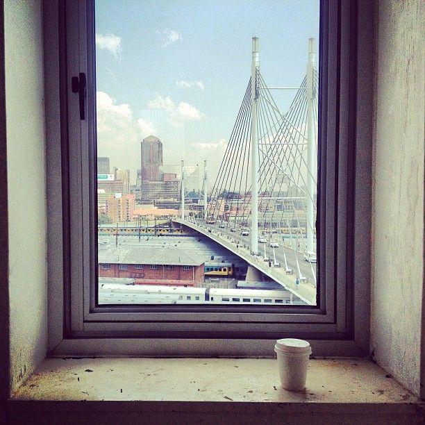 View over Nelson Mandela bridge, Johannesburg