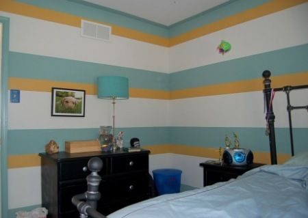 horizontal stripes on walls ideas horizontal striped walls design portfolio burnt toast. Black Bedroom Furniture Sets. Home Design Ideas