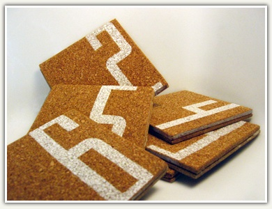 crafty ideas modern coasters. cork coasters with freezer paper stencil 31 best Stencils images on Pinterest  Cork Corks and