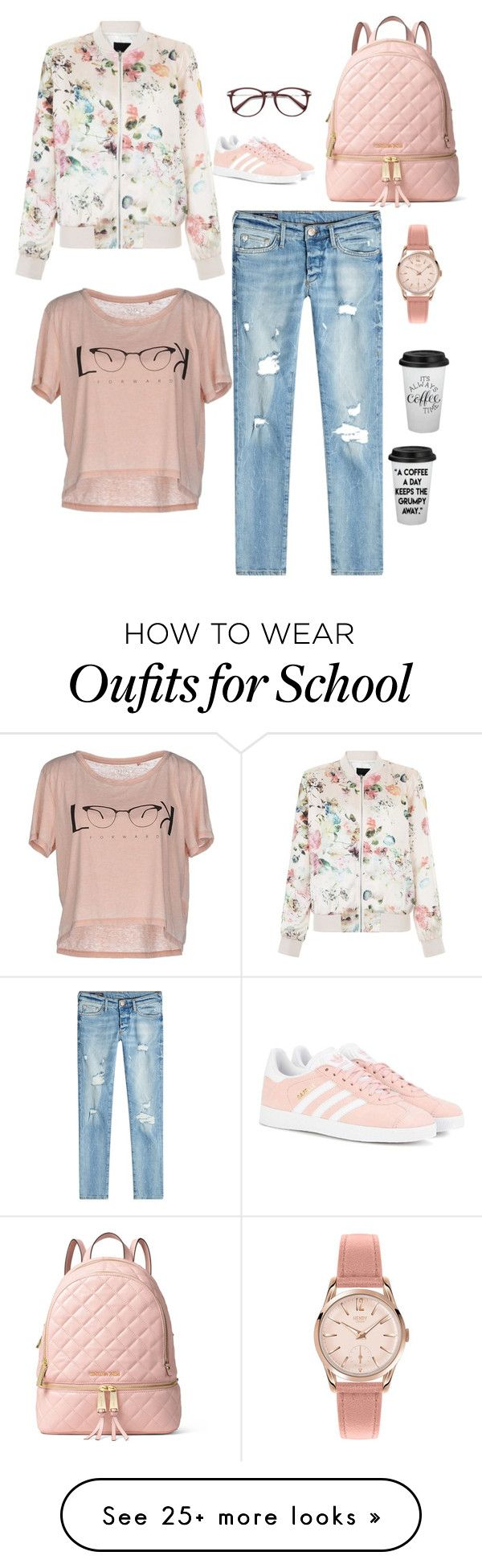"""school outfit"" by jasive-asseff-jamous on Polyvore featuring adidas Originals, New Look, True Religion, ONLY, MICHAEL Michael Kors and Henry London"