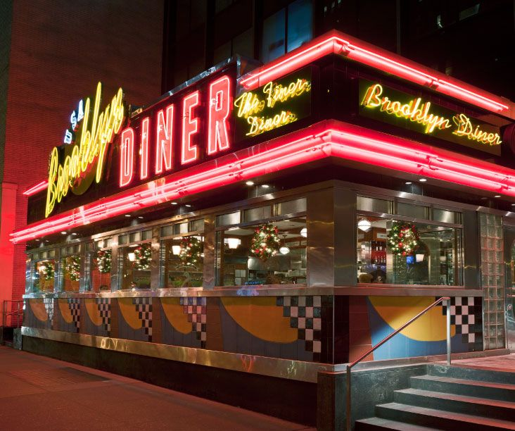 Brooklyn Diner on 57th is an institution, and you can't go wrong here.
