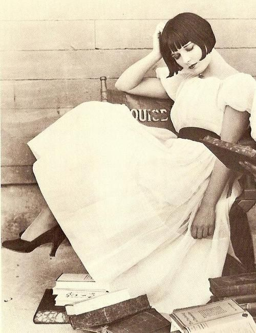 Louise Brooks, 1920. I feel like this is a self portrait. And of course now, I want to cut my hair again.