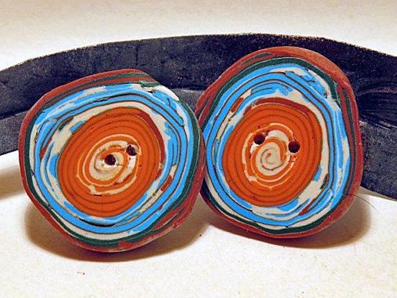 Tribal Buttons. Summer Sky Tribal Buttons set by QuerkyBitsbyKerry