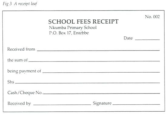 Tuition Receipt Template School Maker Cos School