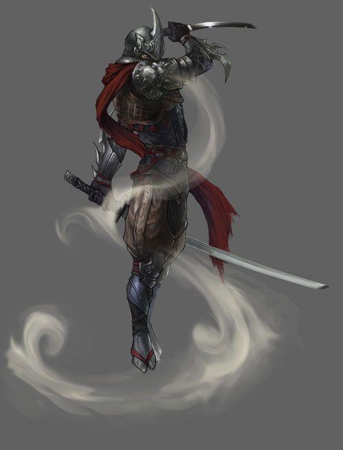 Ninja Whirlwind Strike.  Pastel? Art