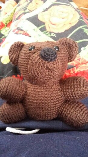 Thomas the crocheted bear <3