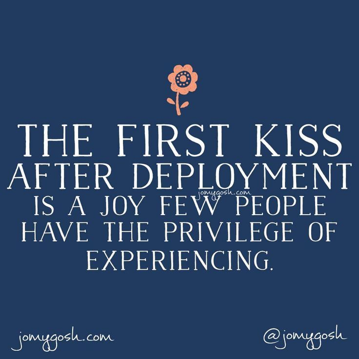 The first kiss after deployment is a joy few people have the privilege of experiencing...