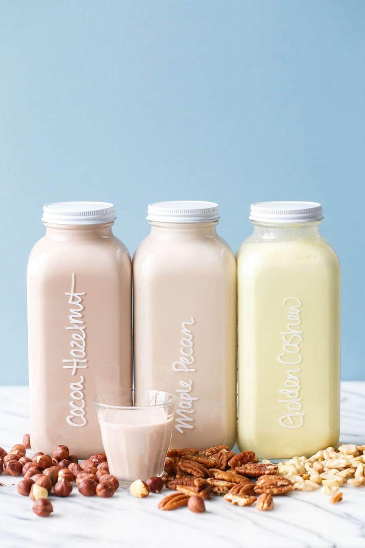Homemade Nut Milk Recipe - 3 Flavor ideas /