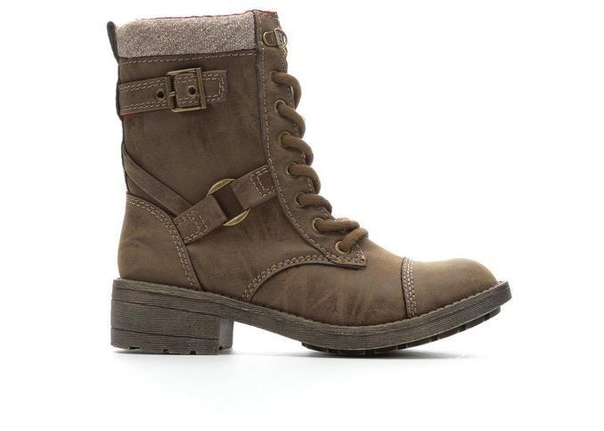 Women's Rocket Dog Thunder Combat Boots Brown | Shoe Carnival
