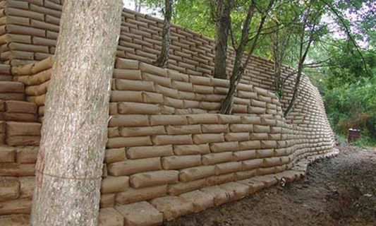 Retaining Wall Made of Concrete
