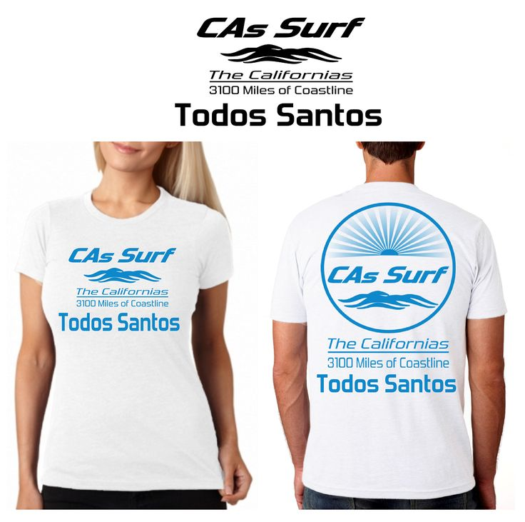 California T-Shirts - Isla Todos Santos, Baja California   Available for Retail Stores! Choose both your locale - from 3100 miles of coastline - and custom shirt/print color combos from a wide selection - Inquiries: info@GoCalifornias.com