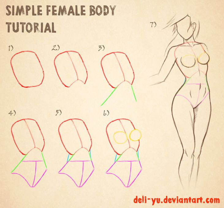 Simple Female Body Tutorial by deli-Yu -                                         How to Art