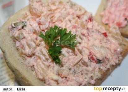 Syrečková pomazánka recept - TopRecepty.cz(tvaroh,ster.paprika,okurky a beraní rohy,cibule
