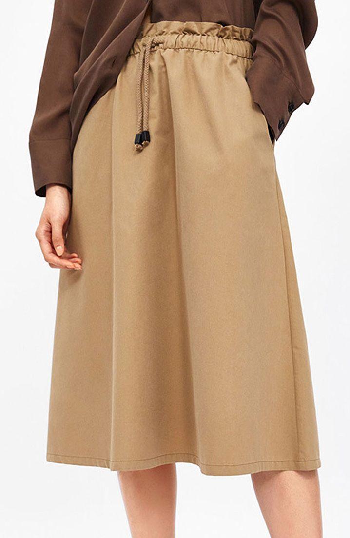352690729f Simple Design Drawstring Loose Midi Skirts in 2019 | Bottoms ...