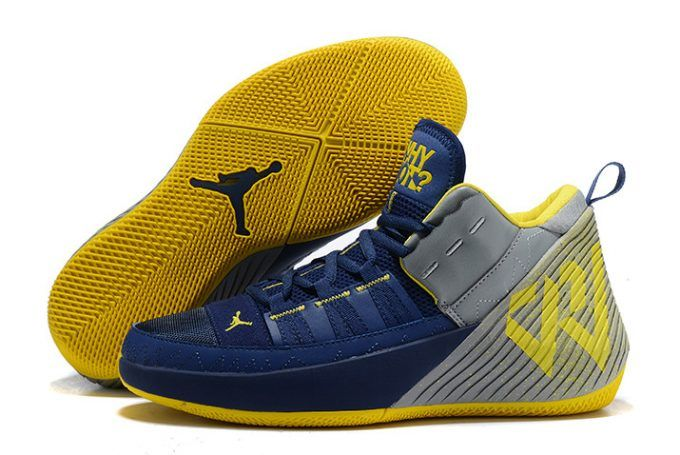35d8697076aab7 New Jordan Why Not Zer0.1 Chaos Michigan College Navy Amarillo White-4